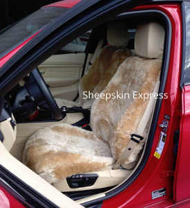 BMW 335i with Camel Sheepkin Seat Covers